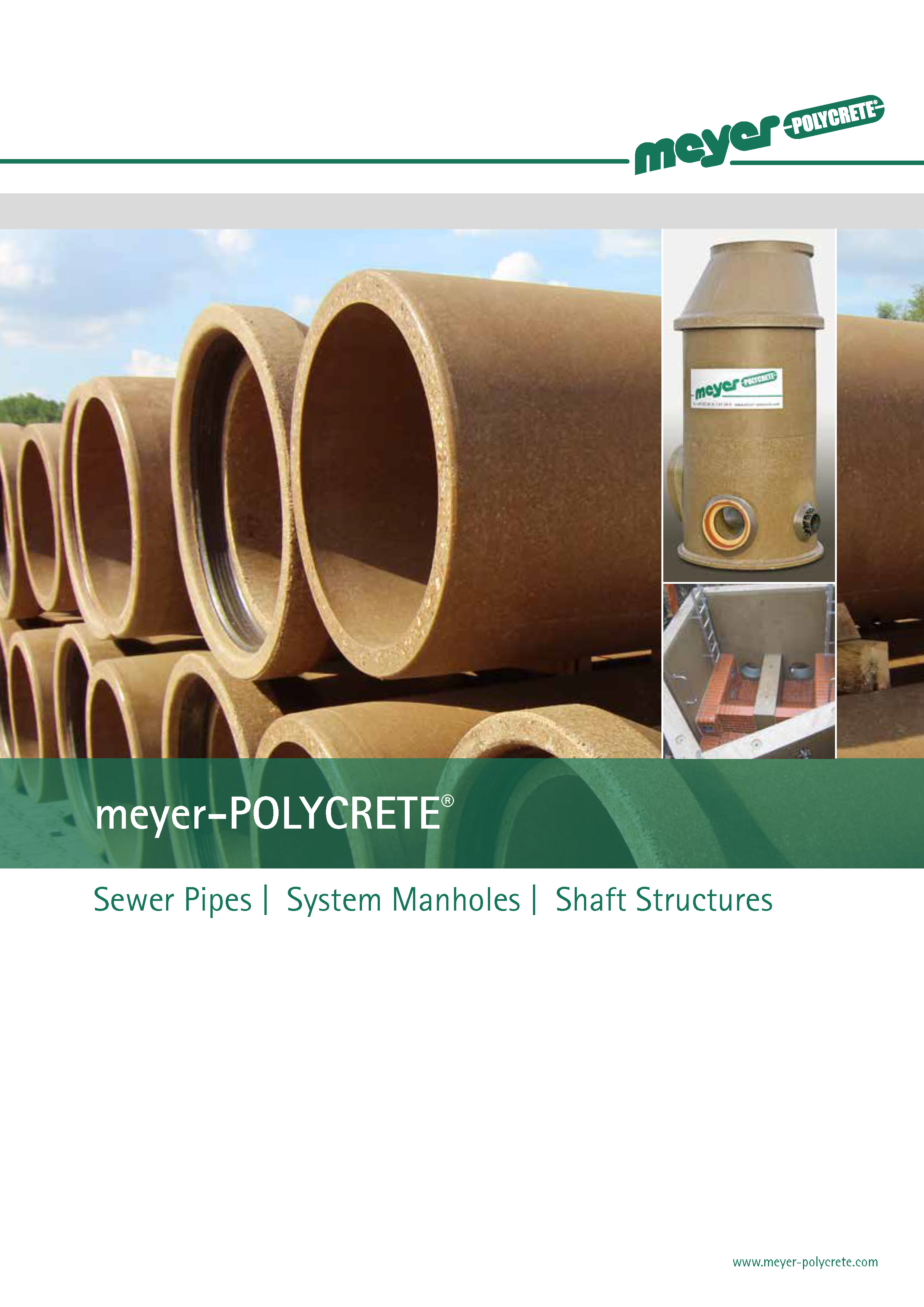 meyer POLYCRETE - Sewer pipes | System manholes | Shaft structures